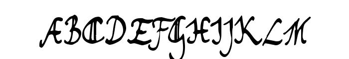 Toms Handwriting FG Font UPPERCASE