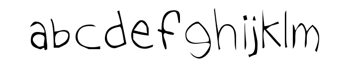Tom's Handwriting Font LOWERCASE