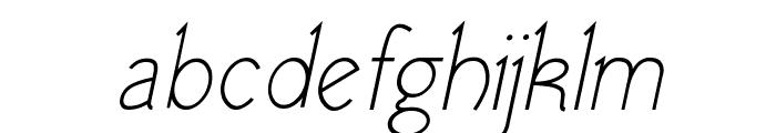 Tomsk Italic Font LOWERCASE