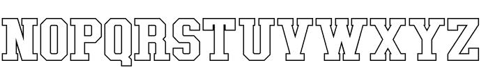 Tonopah Hollow Bold Font LOWERCASE
