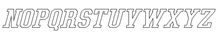Tonopah Hollow Italic Font UPPERCASE