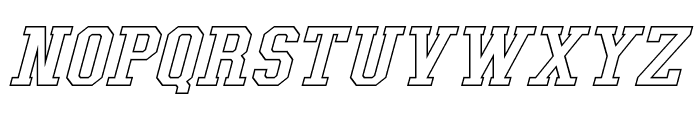 Tonopah Hollow Italic Font LOWERCASE