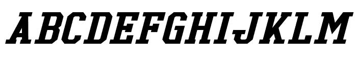 Tonopah Italic Font LOWERCASE