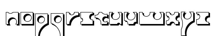 Toolego-Shadow Font LOWERCASE