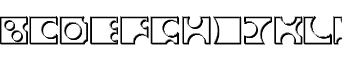 Toolego-Walled Font UPPERCASE