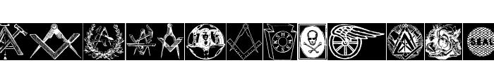 ToolsSymbols Font UPPERCASE