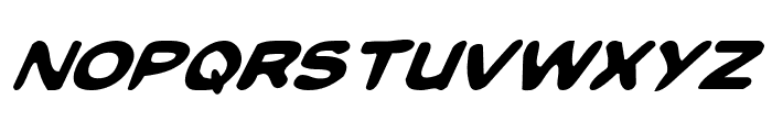 Toon Town Industrial Italic Font LOWERCASE