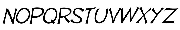 Tooney Loons Italic Font UPPERCASE