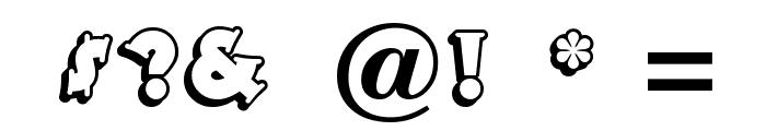 TooneyNoodle Font OTHER CHARS