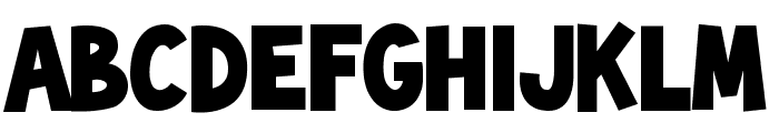 ToonishRegular Font LOWERCASE