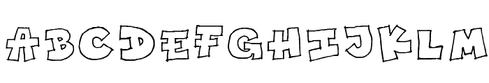 Toony Font UPPERCASE