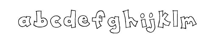 Toony Font LOWERCASE