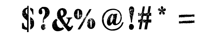 Top Secret Stamp Font OTHER CHARS
