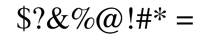 Topaz Font OTHER CHARS