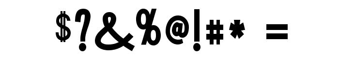 Tork-Bold Font OTHER CHARS
