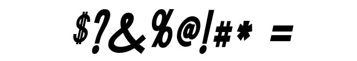 Tork-BoldItalic Font OTHER CHARS