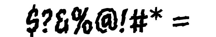 Torn Asunder BB Regular Font OTHER CHARS