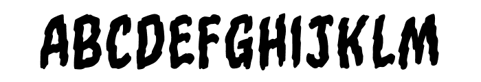 TornAsunderBB-Regular Font LOWERCASE