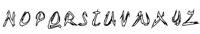 TornUpAndLovingIt Font UPPERCASE