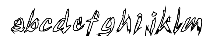 TornUpAndLovingIt Font LOWERCASE