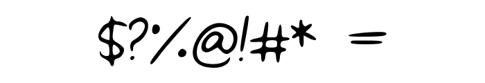 Toro1 Font OTHER CHARS