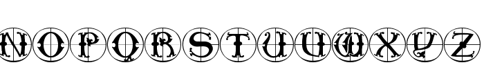 ToscanButtons Font UPPERCASE