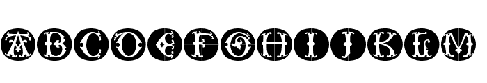 ToscanButtons Font LOWERCASE