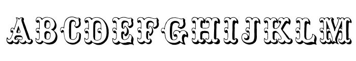 Toskanische Egyptienne Initialen Font UPPERCASE