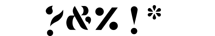 Tostada Regular Font OTHER CHARS