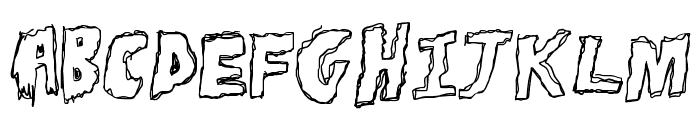 ToughHorror Font UPPERCASE