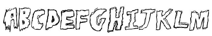 ToughHorror Font LOWERCASE