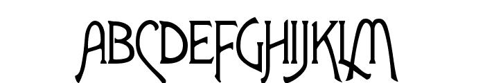 ToulouseLautrec Regular Font UPPERCASE