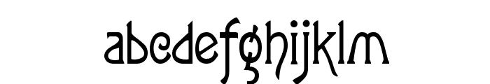ToulouseLautrec Regular Font LOWERCASE