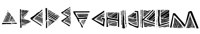 Touppeka Font LOWERCASE
