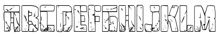 Tower Ruins Outline Font UPPERCASE