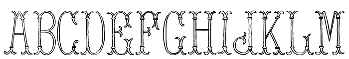 Tower of London Font LOWERCASE