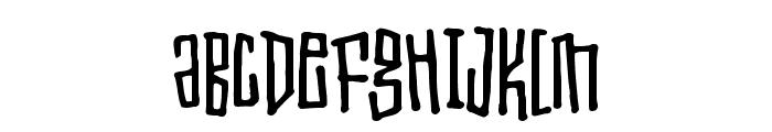 Toxic waist Font UPPERCASE