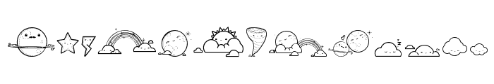 Toy Cloud Font UPPERCASE