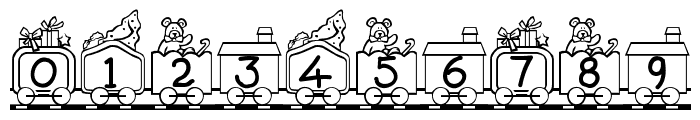 Toy Train Font OTHER CHARS