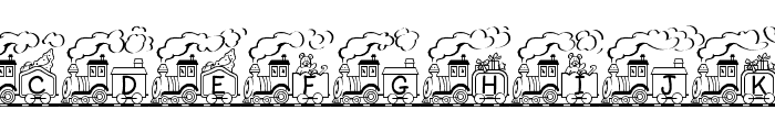 Toy Train Font UPPERCASE