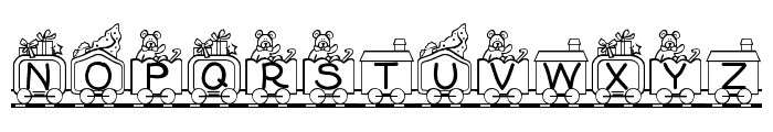 Toy Train Font LOWERCASE