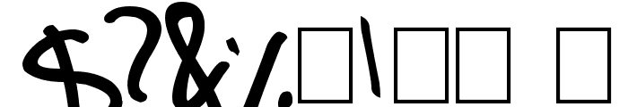 tom script Font OTHER CHARS