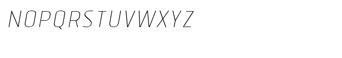 Tolyer Thin Italic No1 Font LOWERCASE
