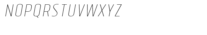Tolyer Thin Italic No3 Font LOWERCASE