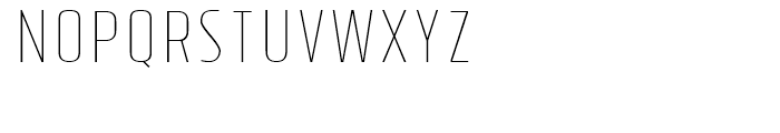 Tolyer Thin No4 Font UPPERCASE
