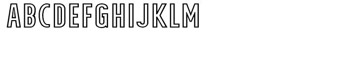 Tolyer X Outline Font UPPERCASE