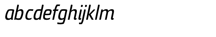 Torcao Condensed Demi Italic Font LOWERCASE