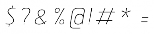 Tolyer No.2 Thin Italic Font OTHER CHARS
