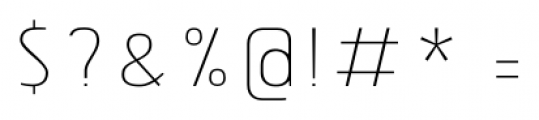 Tolyer No.2 Thin Font OTHER CHARS