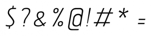 Tolyer No.3 Light Italic Font OTHER CHARS